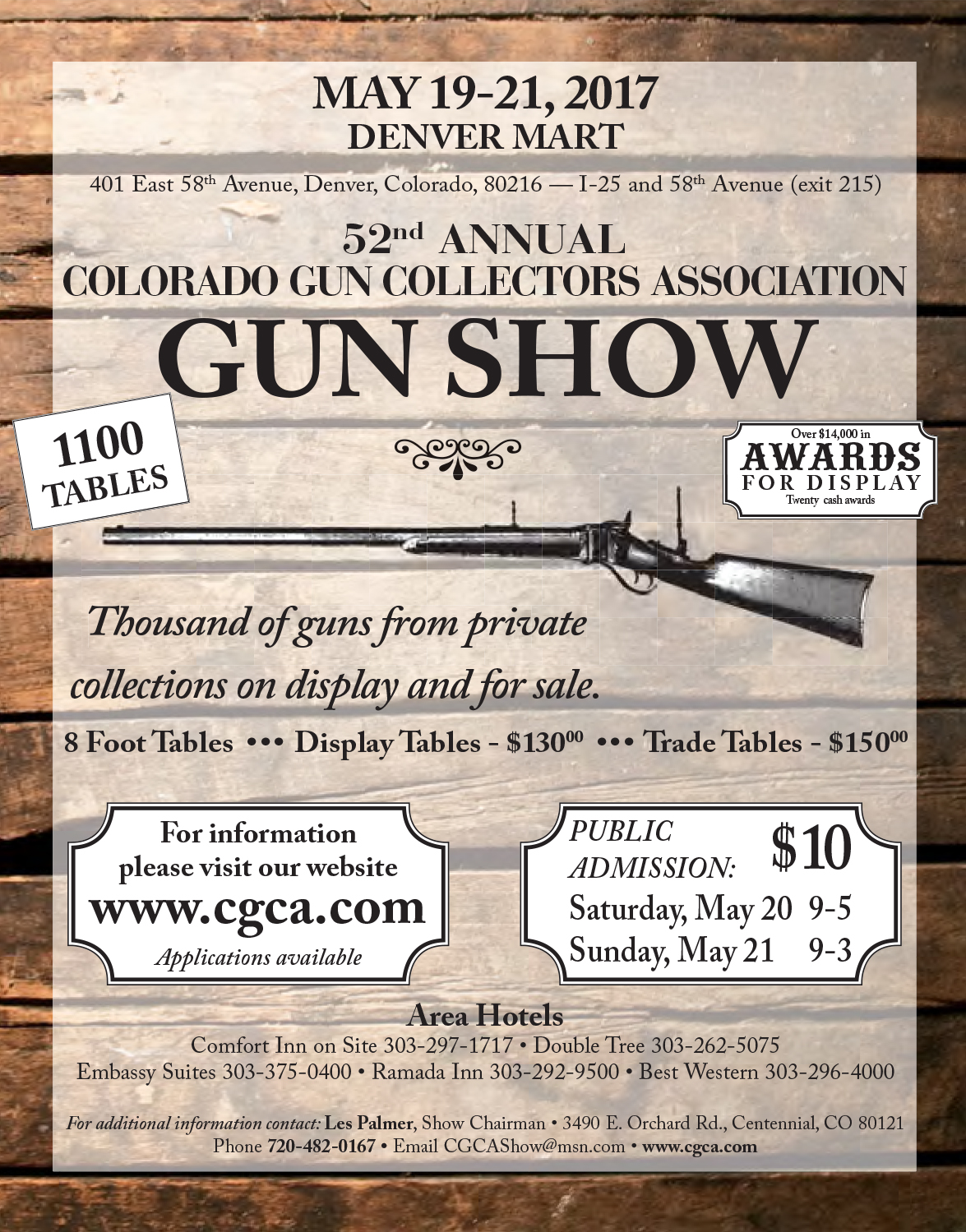 Denver Gun Show May 2017 ad